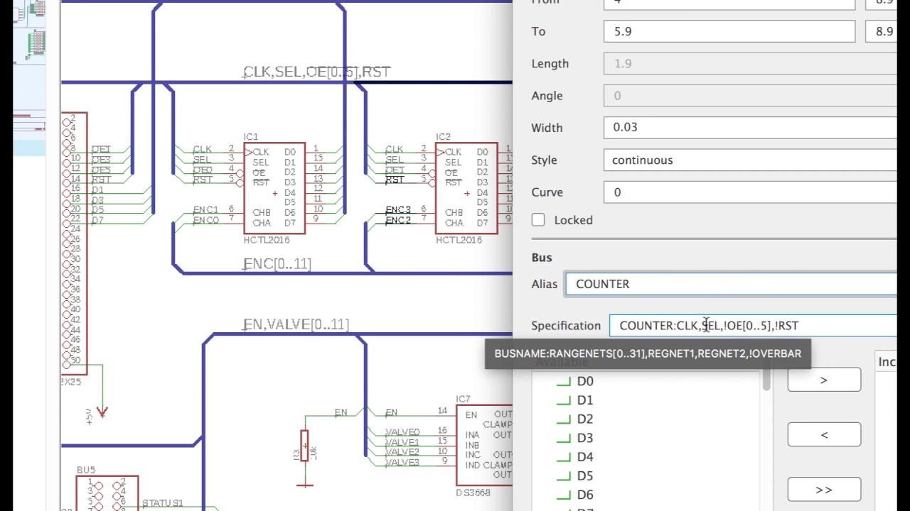 medium resolution of schematic wiring new bus breakout dialog and more pcb design