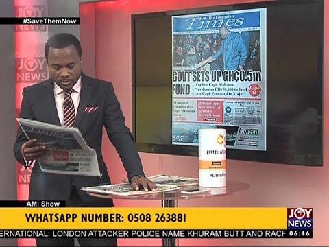 AM Show Newspaper Headlines on JoyNews (6-6-17)