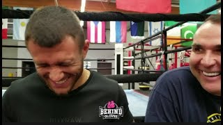 VASYL LOMACHENKO SAW KHABIB VS CONOR CAGESIDE! WEIGH'S IN ON CHAOS AFTERWARDS!