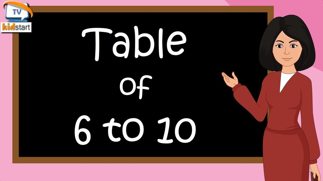 Download Table of 6 to 10 | Rhythmic Table of Six to Ten | Learn Multiplication Table of 6 to 10 | kidstartv