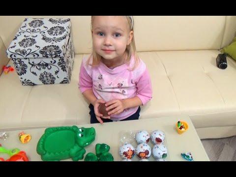 Неожиданный сюрприз внутри шоколадного яйца !!! Сюрпризы Крокодил Гена и Чебурашка Surprise toy