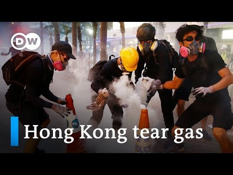 hong-kong-police-fire-tear-gas-at-protesters-|-dw-news