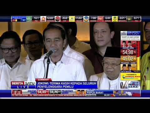 Pidato Jokowi Terkait Hasil Quick Count Pilpres 2019
