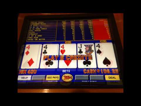 video poker slot machine winners