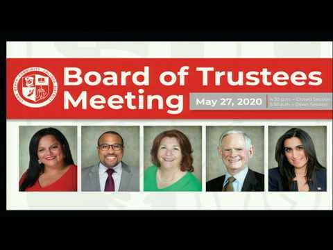 LBCCD - Board of Trustees Meeting - May 27, 2020