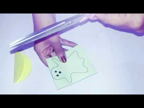Halloween decor|| cute ghost- how to make ghost of paper ||craft for kids
