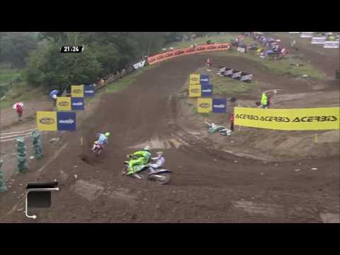 MXGP of Czech Republic Romain Febvre passes Paulin and Desalle