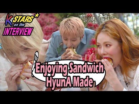 [CONTACT INTERVIEW★]HyunA Prepared Sandwich For E'dawn & Hui 20170507