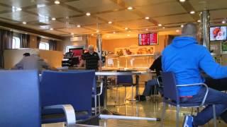 Storm Imogen on bord Epsilon Irish Ferry