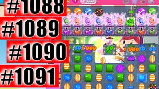 Candy Crush Saga Level 1088-1080-1090-1091 NEW! | Complete!