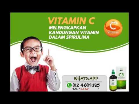 C3 Spirulina - baik untuk keperluan nutrien tubuh