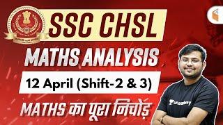 SSC CHSL Exam Analysis 12th April 2021 (2nd \u0026 3rd Shift) | CHSL Maths Asked Questions by Sahil Sir