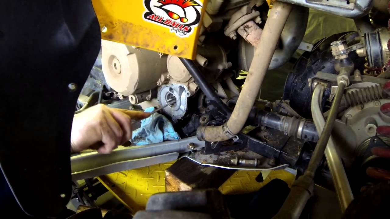 diy can am water pump seal replacement