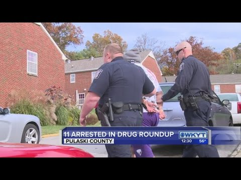 Drug roundup in Pulaski County - YouTube