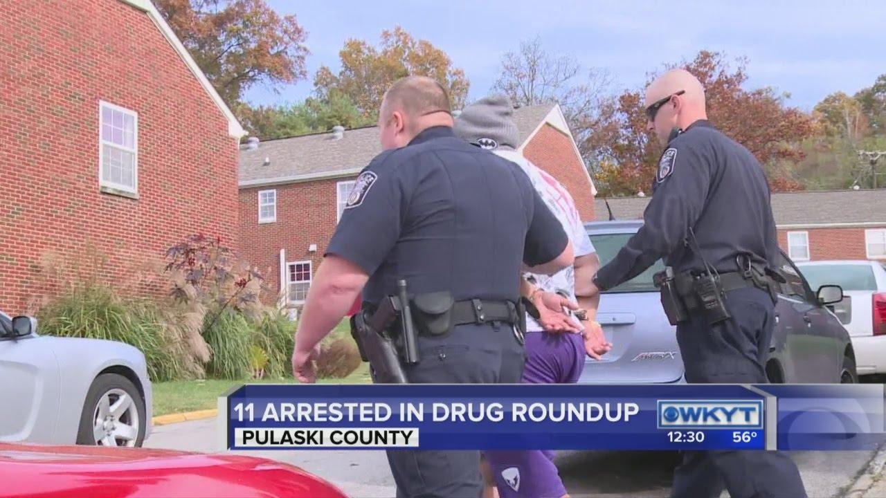 Drug roundup in Pulaski County