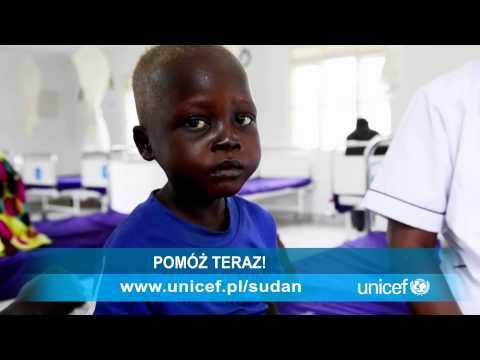 UNICEF SUDAN Południowy - Mathew umiera z głodu. Pomóż!