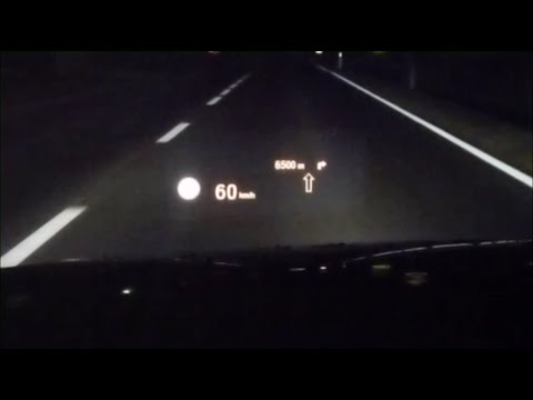 bmw head up display hud at night youtube. Black Bedroom Furniture Sets. Home Design Ideas