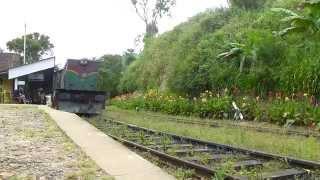 Sri Lanka Railways Experience 2015: Class M6 quittant Ella pour Badulla