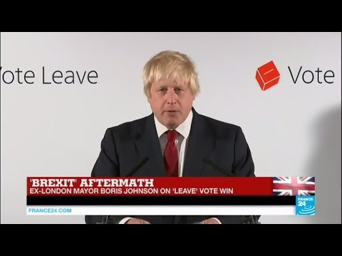 Brexit aftermath: Ex-London Mayor Boris Johnson on