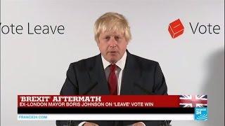 Brexit aftermath: Ex-London Mayor Boris Johnson on