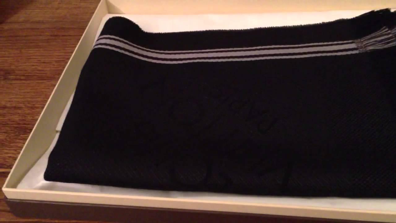 83e1a2ae40c Louis Vuitton Men Damier Scarf Youtube · SaveEnlarge · Unboxing Louis  Vuitton Petit Scarf Damier ...