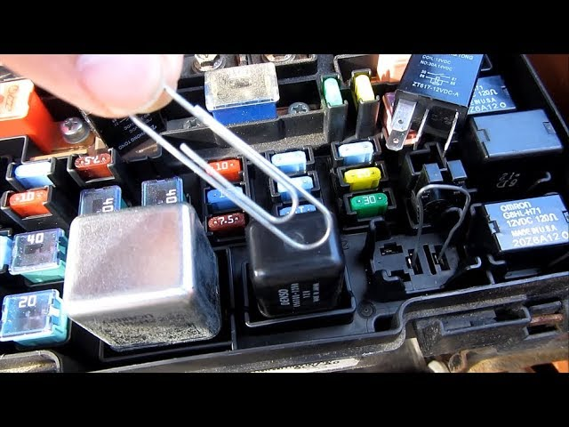 Engage AC Compressor Clutch with a Paperclip on Relay | How to Fix Bypass  Won't Engage | Jump Relay - YouTubeYouTube
