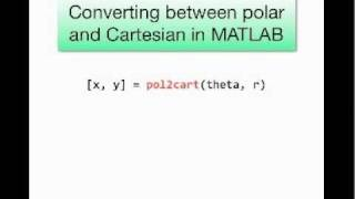 Polar coordinates and plotting in MATLAB