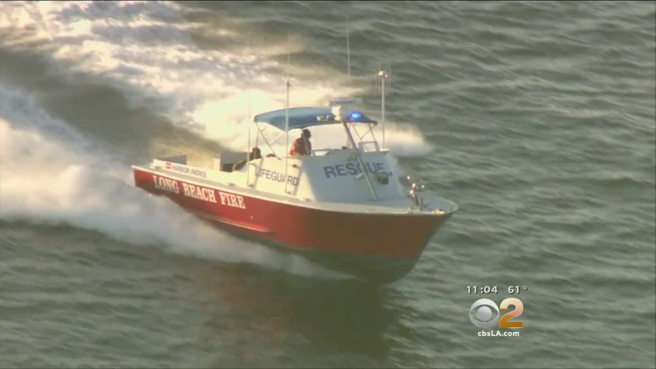4 rescued from capsized fishing boat off long beach youtube for Long beach fishing boat