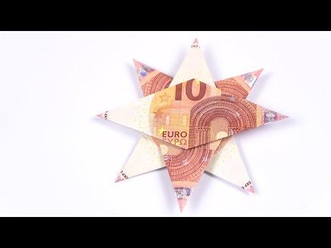 Geld falten STERN EINFACH, Geldgeschenke für Weihnachten basteln