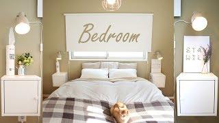 【寝室 模様替え】ベッドルームをアースカラーでリラックスできる空間に模様替え(IKEA・無印良品)