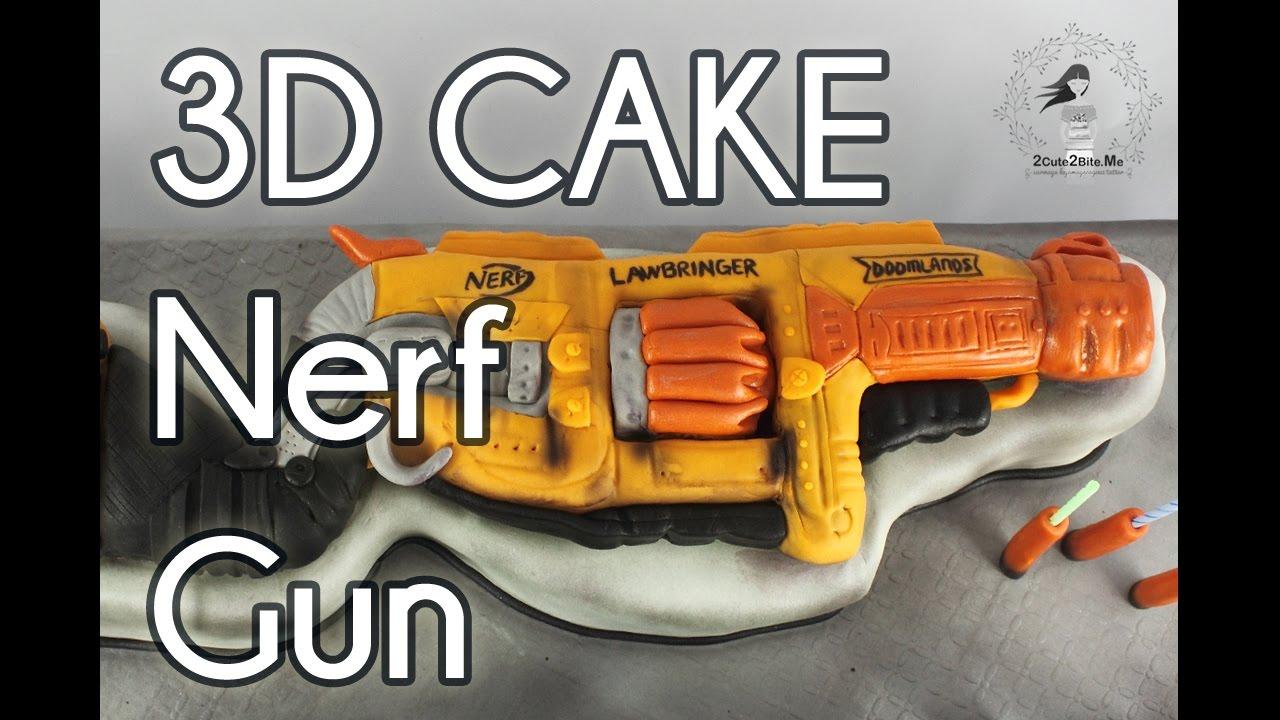 Nerf Gun 3D Cake