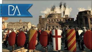 GLORIOUS BATTLE ON CUSTOM MAP - Medieval Kingdoms Total War 1212ad Mod Gameplay