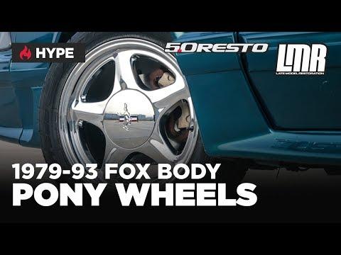 "1979-1993 Fox Body Mustang 5.0 Resto 16"" Pony Wheel - Silver & Chrome"