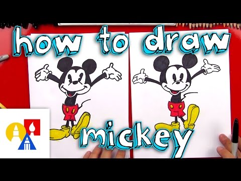 How To Draw Mickey Mouse + New Art Giveaway!
