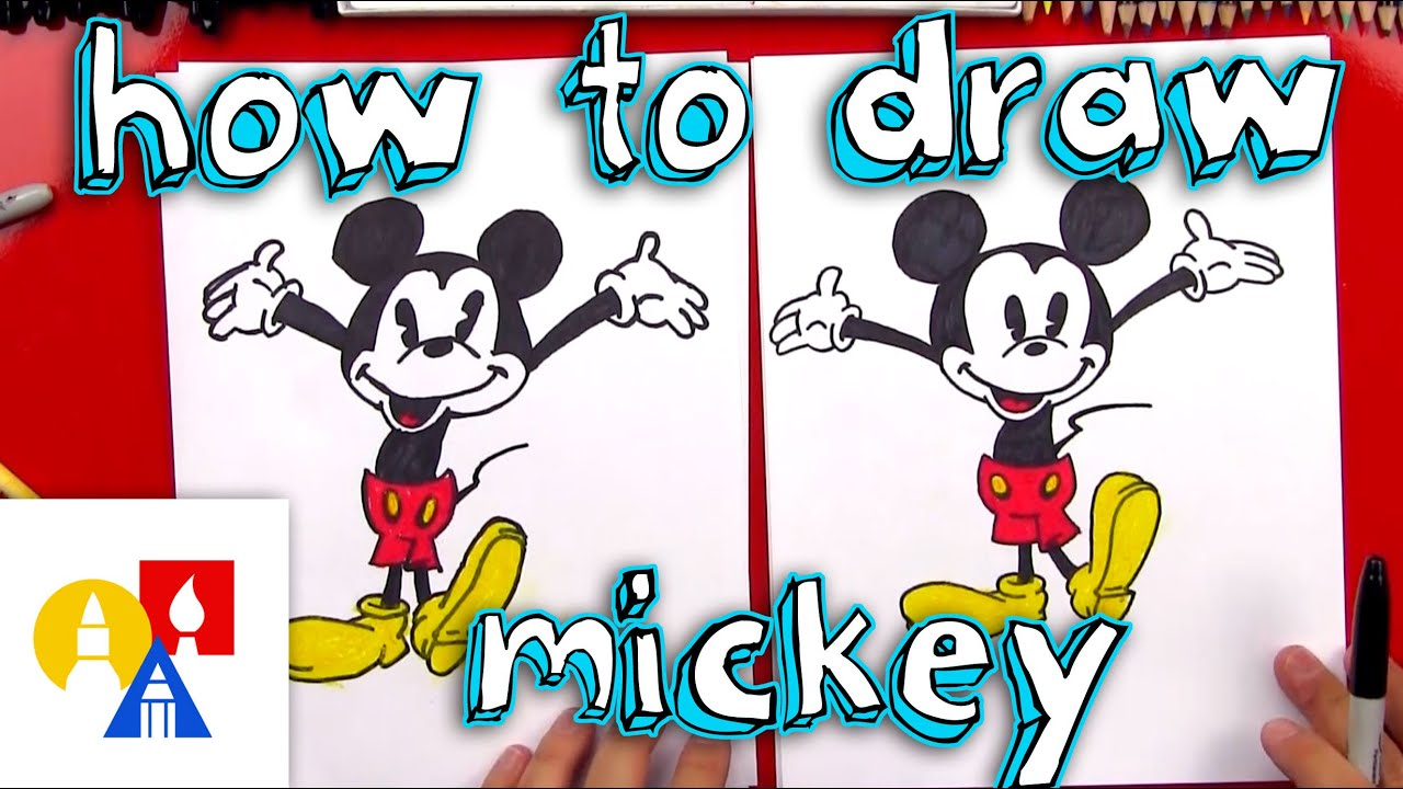 photograph about Mickey Printable titled How In direction of Attract Mickey Mouse + Contemporary Artwork Giveaway!