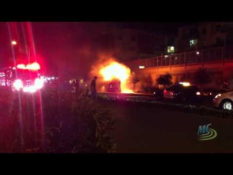 Breaking News: Bus Fire Outside Media Center Offices