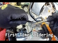 Honda CL360 Part 8 - SOLDERING motorcycle wires, first time!