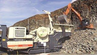 Rock crushing and screening pl