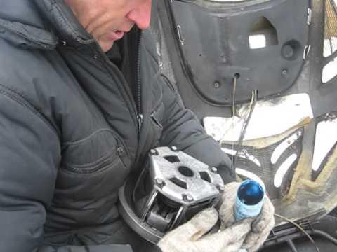 Снятие вариатора на снегоходе Тайга