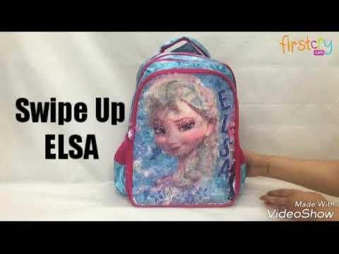 Disney Frozen Anna   Elsa Magic Sequin School Bag - YouTube 3556c9e3071a4