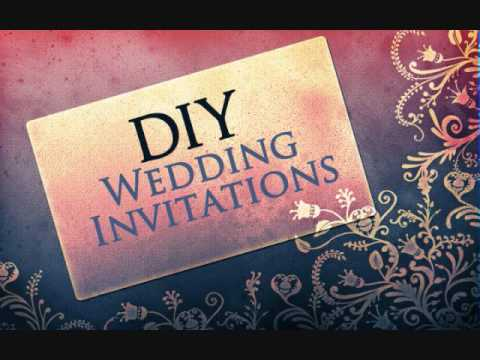 Wedding Invitations - Do It Yourself - FREE Download - How To Do
