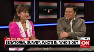 On the Record: Senatorial survey: Who's in, who's out