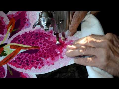The Making of an Art Quilt-Video 6 in a series:  Thread Painting