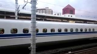 JR三河安城駅 東海道新幹線のATCのすごさを実感!5分遅れ こだま東京行き 到着&発車ベル 乗降終了合図 後続の のぞみ東京行き 追い付き運転停車します