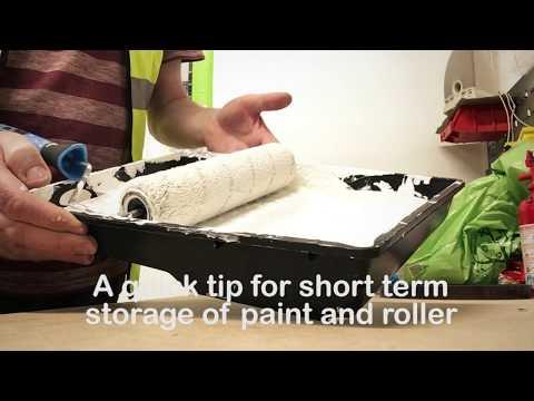 Paint roller storage ... quick tip