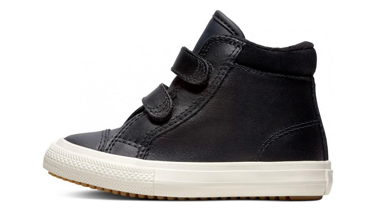 Converse černé kožené boty Chuck Taylor All Star 2V PC Boot Hi Black ... 893844a5b8