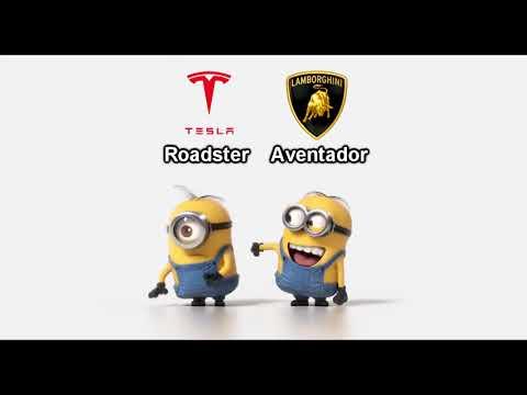 Tesla Roadster vs Lamborghini Aventador