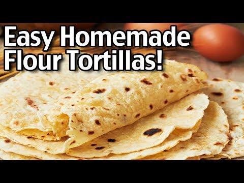 Easy Homemade Flour Tortillas!
