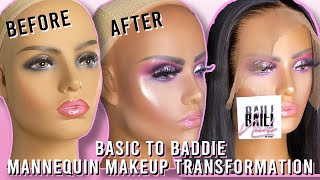 BASIC TO BADDIE MANNEQUIN MAKEUP TRANSFORMATION | FT. COLOURPOP