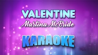 Martina McBride - Valentine (Karaoke version with Lyrics)